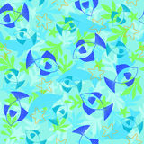 Fish Seamless Repeat Pattern Vector Royalty Free Stock Photography