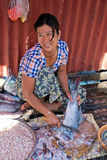 Fish seller Royalty Free Stock Photography