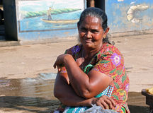 Fish seller Royalty Free Stock Images