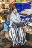 Fish seller Royalty Free Stock Photo