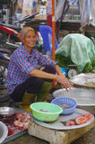 Fish seller woman royalty free stock images