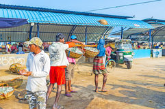 The fish sellers Royalty Free Stock Image