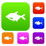 Fish set collection. Fish set icon in different colors isolated vector illustration. Premium collection Stock Photos