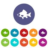 Fish set icons Stock Photo