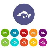 Fish set icons Royalty Free Stock Images