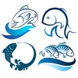 Fish  set Stock Photography