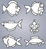 Fish set Royalty Free Stock Image