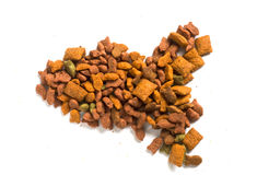Fish shape of cat food Stock Photography