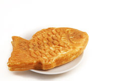 Fish-Shaped Pancake. Japanese fish-shaped pancake with sweet bean paste Stock Images