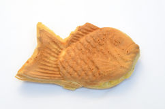 Fish-shaped pancake stuffed with bean jam. This is a picture of a fish-shaped pancake stuffed [filled] with bean jam. This is one of the most famous dessert Royalty Free Stock Image