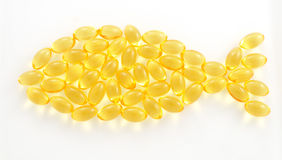 Fish shaped tran capsules Stock Photo