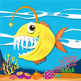 Fish with sharp teeth underwater Stock Image