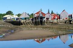 Fish Sheds at Seal Cove Royalty Free Stock Images
