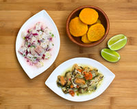 Fish and Shellfish Ceviche Stock Photography