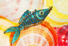 Fish and shells royalty free stock photography