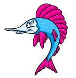Fish shine cartoon illustration Royalty Free Stock Photography
