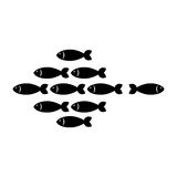 Fish shoal icon. Over white background. vector illustration Royalty Free Stock Photography
