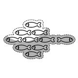 Fish shoal icon. Over white background. vector illustration Royalty Free Stock Image