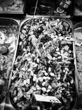 Fish shop. Artistic look in black and white. Stock Images