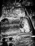 Fish shop. Artistic look in black and white. Royalty Free Stock Photos