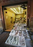 Fish Shop in the Center of Bologna, Emilia Romagna, Italy royalty free stock image