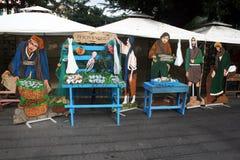Fish shop nativity Stock Photo