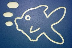 Fish sign Stock Photography