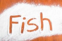 Fish sign, Flour Artwor Stock Image