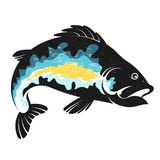 Fish silhouette stock illustration