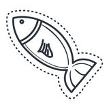 Fish silhouette isolated icon. Vector illustration design Stock Images