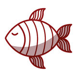 Fish silhouette isolated icon. Vector illustration design Royalty Free Stock Image