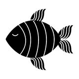 Fish silhouette isolated icon Stock Image