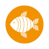 Fish silhouette isolated icon Royalty Free Stock Photos