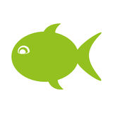 Fish silhouette isolated icon Royalty Free Stock Image