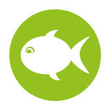 Fish silhouette isolated icon Royalty Free Stock Images