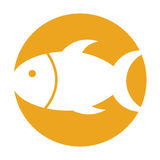 Fish silhouette isolated icon Stock Photo