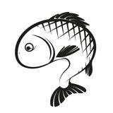 Fish silhouette simple vector illustration