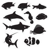 Fish Silhouettes Stock Photos