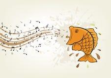 Fish singing. Illustration of fish singing Royalty Free Stock Photos