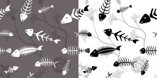 Fish skeleton seamless Royalty Free Stock Image