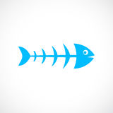 Fish skeleton vector icon. Illustration Stock Image