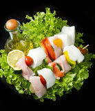 Fish skewers Stock Image