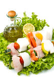 Fish skewers Stock Photo