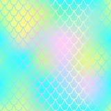 Fish skin seamless pattern. Mermaid skin background. Aquatic fishscale. Fantastic fish skin  background with scale pattern. Mermaid pattern. Pale gradient mesh Royalty Free Stock Photo