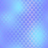Fish skin seamless pattern. Mermaid scale background. Blue fishscale. Fantastic fish skin  background with scale pattern. Mermaid pattern. Pale gradient mesh Royalty Free Stock Photo