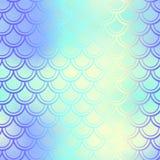 Fish skin seamless pattern. Mermaid scale background. Shiny fishscale. Fantastic fish skin  background with scale pattern. Mermaid pattern. Pale gradient mesh Stock Image