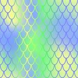 Fish skin seamless pattern. Mermaid skin background. Vibrant fishscale. Fantastic fish skin  background with scale pattern. Mermaid pattern. Pale gradient mesh Stock Photo