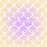 Fish scale and mermaid background. Fish skin on trendy gradient background. Square backdrop with fish skin ornament. Bright color transitions. Mermaid tail Stock Photo