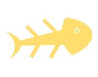 Fish skull isolated icon design Stock Photos