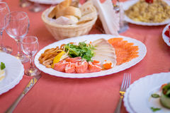 Fish sliced on a plate Royalty Free Stock Photography